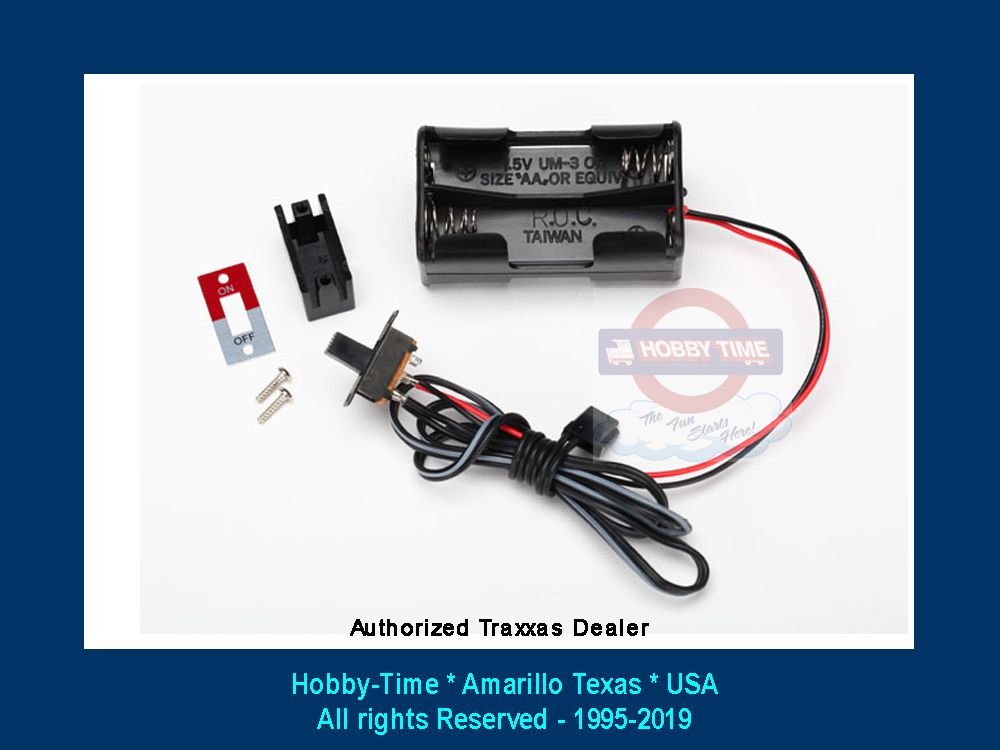 Battery Holder | 4 Cell with switch | Traxxas | 4780-3170