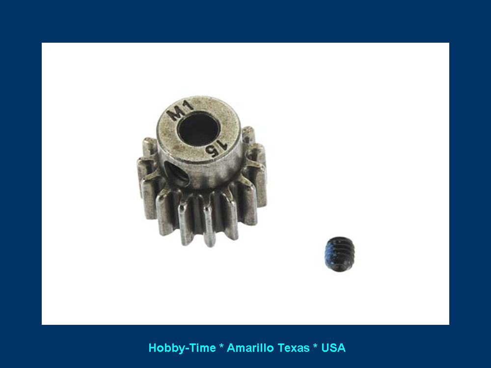 Pinion | 1 0 MOD Pitch | 15 Tooth | 5 mm ID | Traxxas 4780